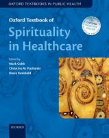 Oxford Textbook of Spirituality in Healthcare PDF