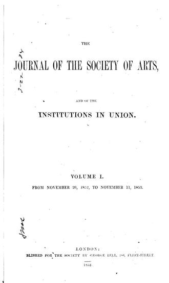 Journal of the Royal Society of Arts PDF