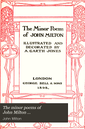 The Minor Poems of John Milton