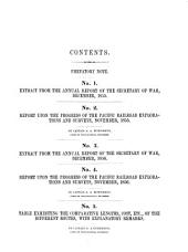 Reports of explorations and surveys: to ascertain the most practicable and economical route for a railroad from the Mississippi River to the Pacific Ocean, Volume 7