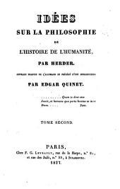 Idées sur la philosophie de l'histoire de l'humanitié: Volume2