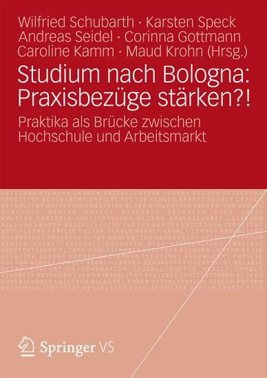 Studium nach Bologna  Praxisbez  ge st  rken   PDF
