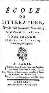 École de Littérature, etc. By J. de L.