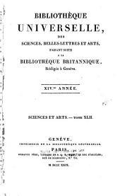 Bibliothèque universelle des sciences, belles-lettres et arts: Volume42