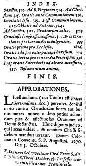 Preces Gertrudianae sive vera et sincera medulla devotissimarum precum .... ex revelationibus Gertrudis et Mechtildis ...