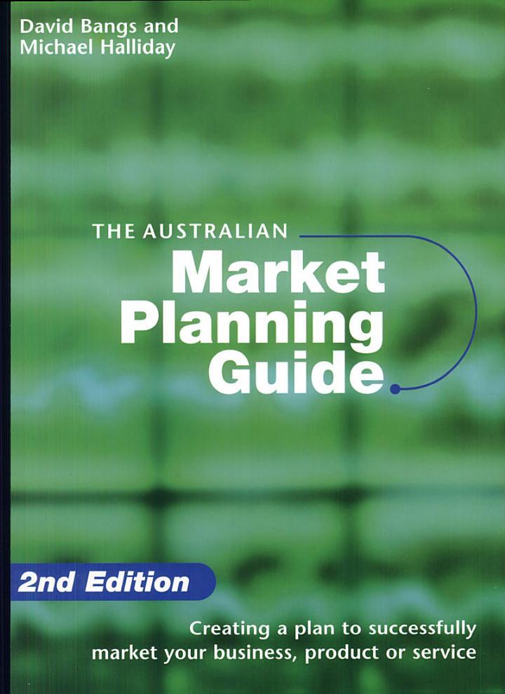 The Australian Market Planning Guide