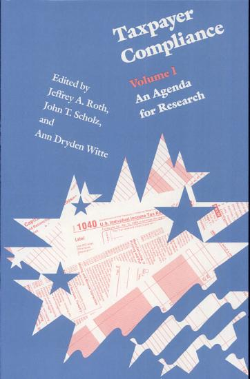 Taxpayer Compliance  An agenda for research PDF