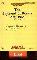 The Payment of Bonus Act  1965 PDF