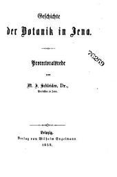 Geschichte der Botanik in Jena