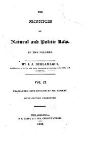 The Principles of Natural and Politic Law ...