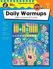Daily Warmups, Grade 1: Math Problems & Puzzles