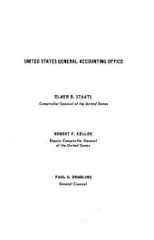 Digests of unpublished decisions of the Comptroller General of the United States: General government matters, appropriations and miscellaneous, Volumes 18-22