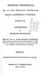 Historicas de las tres Provincias Vascongadas: Volumen 3