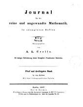 Journal für die reine und angewandte Mathematik: Bände 35-36