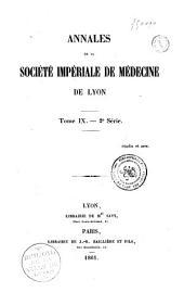 Annales de la Société de médecine de Lyon
