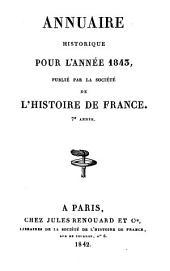 Annuaire historique: Volume7