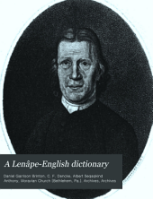 A Lenâpé-English Dictionary