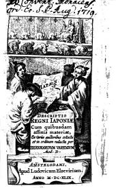 Descriptio regni Japoniae: cum quibusdam affinis materiae ex variis auctoribus collecta et in ordinem redacta