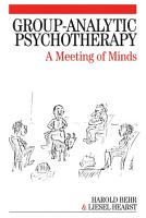 Group Analytic Psychotherapy PDF