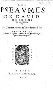 Les Pseaumes de Dauid mis en rime francoise
