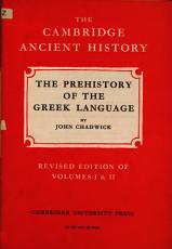 The Prehistory of the Greek Language