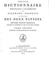 Nouveau dictionnaire fran  ois allemand et allemand fran  ois    l usage des deux nations PDF
