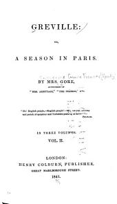 Greville, Or, A Season in Paris: Volume 2