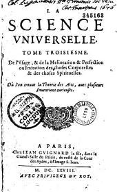 La Science universelle de Sorel ou la vraie philosophie est réduite à un ordre naturel