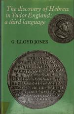 The Discovery of Hebrew in Tudor England