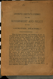 Views on the Government and Policy of the United States