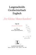 Langenscheidt s Condensed Muret Sanders German Dictionary PDF