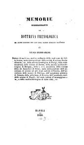 Memorie risguardanti la dottrina frenologica ed altre scienze che con essa hanno stretto rapporto