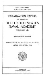 Examination Papers for Admission to the U.S. Naval Academy