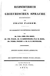 Handwörterbuch der griechischen Sprache: Rho - Omega