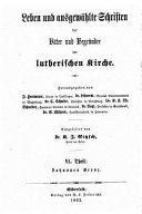 Leben Und Ausgewahlte Schriften PDF