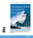 Foundations of Earth Science  Books a la Carte Edition
