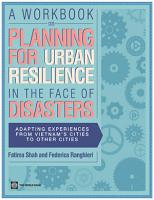 A Workbook on Planning for Urban Resilience in the Face of Disasters PDF