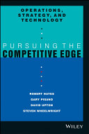OPERATIONS STRATEGY AND TECHNOLOGY  PURSUING THE COMPETITIVE EDGE PDF