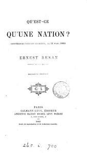 Qu'est-ce Qu'une Nation?