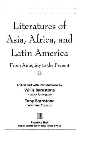 Literatures of Asia, Africa, and Latin America
