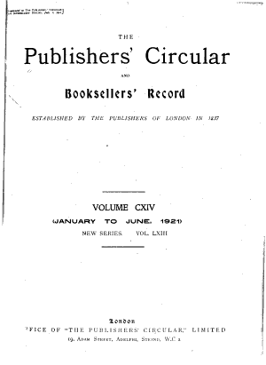 Publishers' Circular