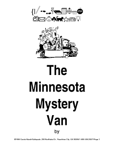 The Minnesota Mystery Van Takes Off  Book 1 PDF