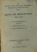 Lists of Men-of-war, 1650-1700