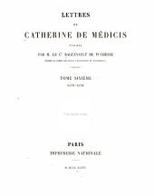 Lettres de Catherine de Médicis: 1578-1579