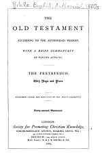 The Old Testament According to the Authorized Version: The Pentateuch