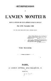 Réimpression de l'ancien moniteur: depuis la réunion des États-Généraux jusqu'au Consulat. Mai 1789 - Novembre 1799, Volume3