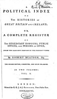 A Political Index to the Histories of Great Britain and Ireland PDF