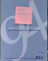 1994 Informe Anual   Preparado Para la Organizacion de Estados Americanos PDF