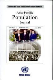 Asia-Pacific Population Journal: Volume 17, Issue 1