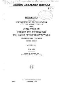 Subliminal Communication Technology Book
